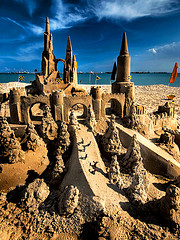 If you're going to work, build an awesome sandcastle